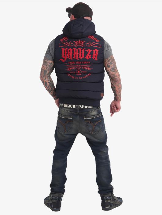 Yakuza Vest Felt Logo Quilted blue