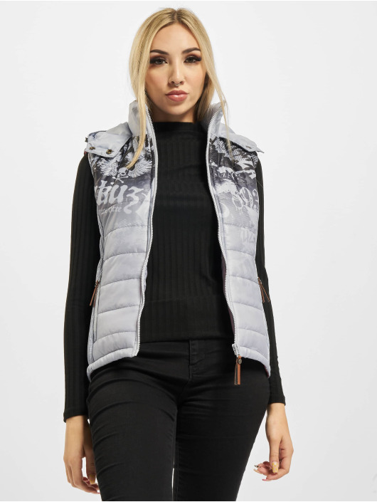 Yakuza Vest Brandig Quilted grey