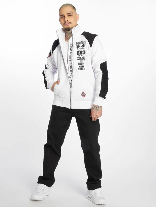 Yakuza Veste mi-saison légère Lily Skull Two Face Training blanc
