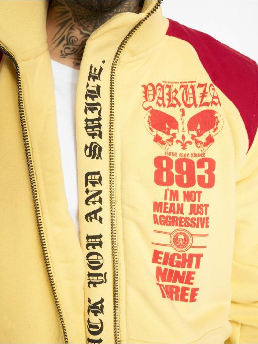 Yakuza Veste mi-saison légère Lily Skull Two Face Training jaune