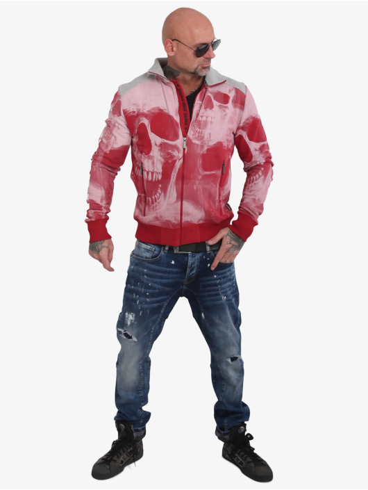 Yakuza Veste mi-saison légère Muerte Skull rouge