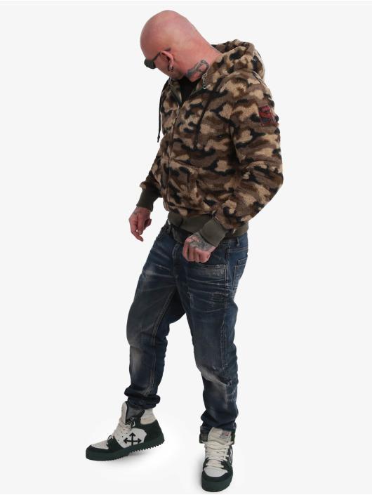 Yakuza Vetoketjuhupparit Red Flag Sherpa camouflage