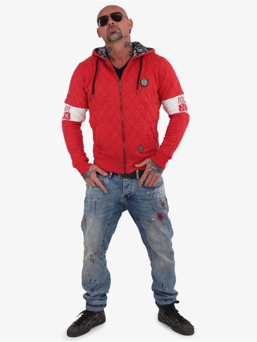 Yakuza Vetoketjuhupparit Helmet Quilted punainen