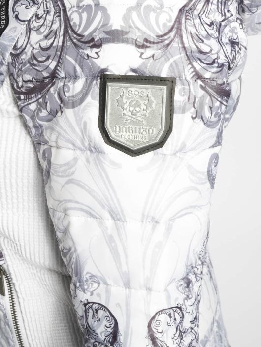 Yakuza Vinterjakke Ornamental Skull hvit