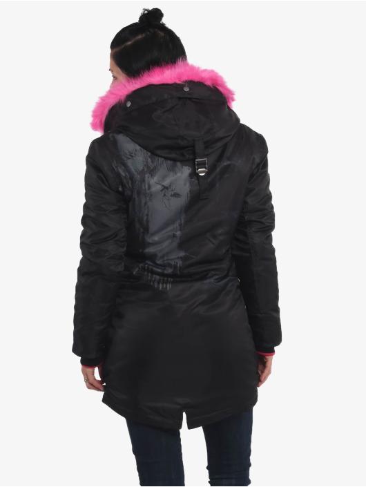 Yakuza Vinterjakke Fire Bird Faux Fur svart