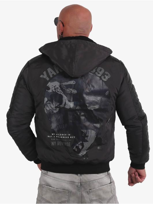 Yakuza Winterjacke Skull Revenge grau