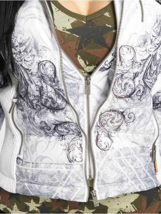 Yakuza Zimné bundy Ornamental Skull biela