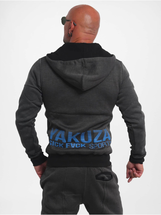 Yakuza Zip Hoodie Limitless S&F Sport èierna
