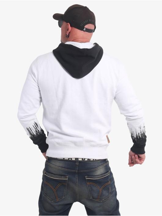 Yakuza Zip Hoodie Splatter Sign bialy
