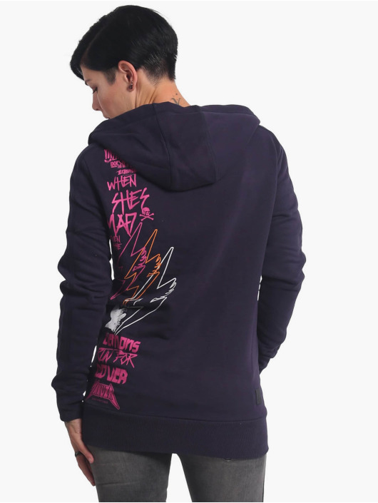 Yakuza Zip Hoodie Revival Two Face Long blå