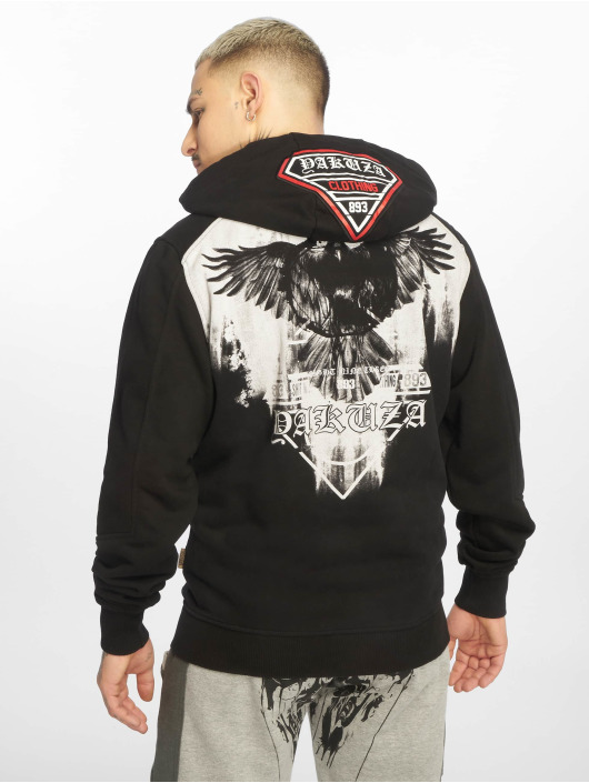 Yakuza Zip Hoodie Raven black