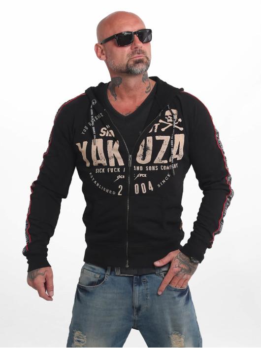 Yakuza Zip Hoodie Bad Side black