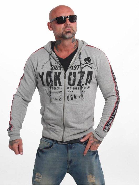 Yakuza Zip Hoodie Bad Side blau