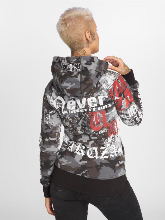 Yakuza Zip Hoodie Diamond Skull camouflage