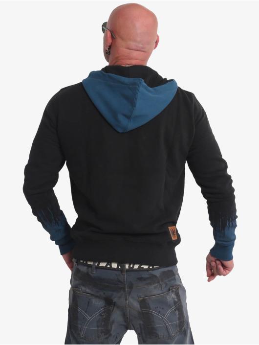 Yakuza Zip Hoodie Splatter Sign czarny