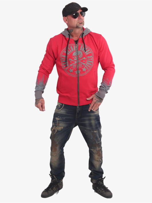 Yakuza Zip Hoodie Splatter Sign czerwony