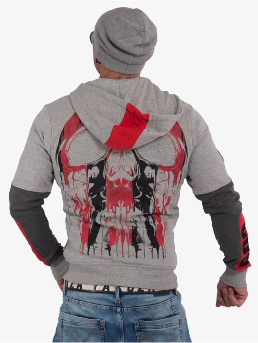 Yakuza Zip Hoodie Imperator Two Face grå