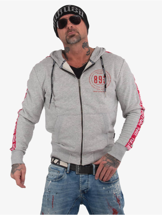 Yakuza Zip Hoodie War Is Sweet grau