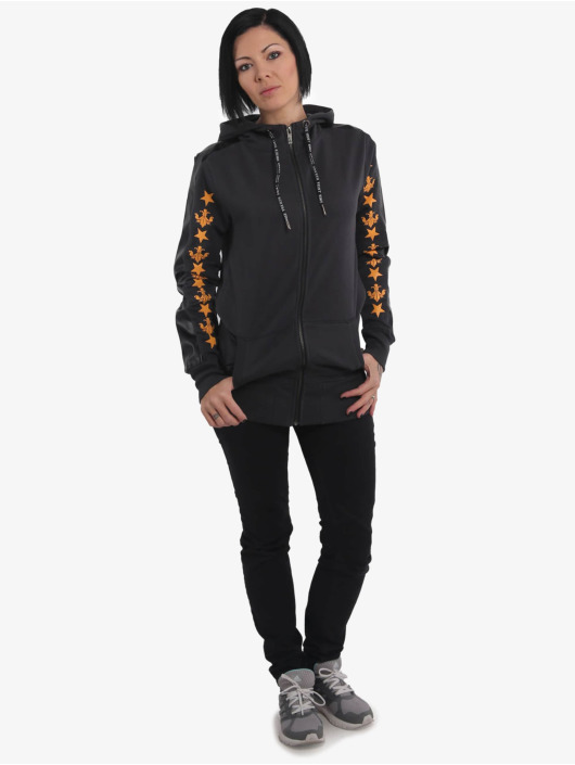 Yakuza Zip Hoodie Crests Long gray
