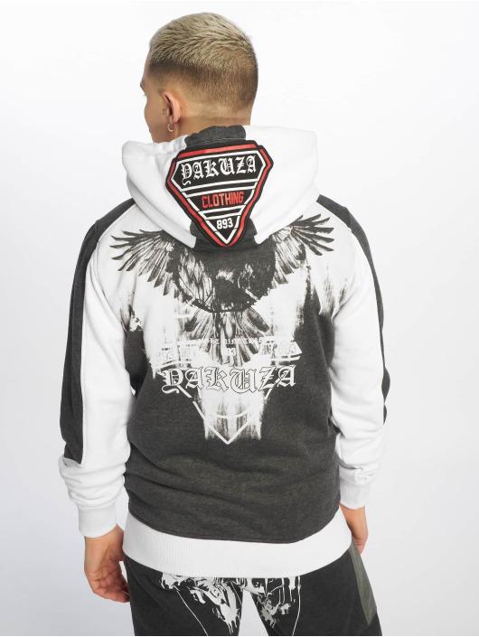 Yakuza Zip Hoodie Raven hvid
