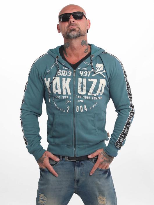 Yakuza Zip Hoodie Bad Side modrá