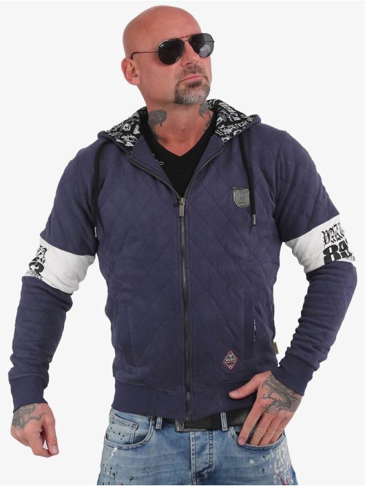 Yakuza Zip Hoodie Helmet Quilted modrá