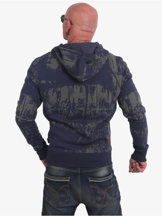 Yakuza Zip Hoodie Toxin modrá