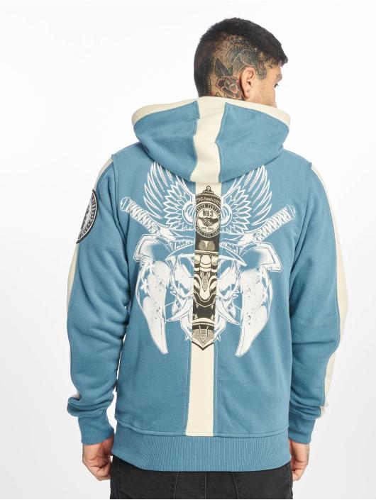 Yakuza Zip Hoodie Samurai niebieski