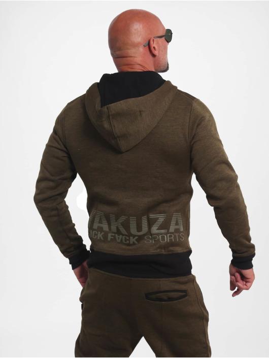 Yakuza Zip Hoodie Limitless S&F Sport olivová