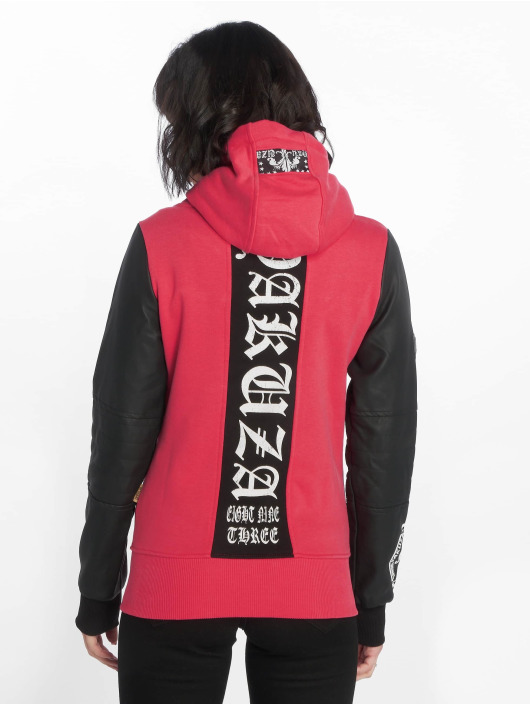 Yakuza Zip Hoodie Lily High Neck Mix Hooded pink