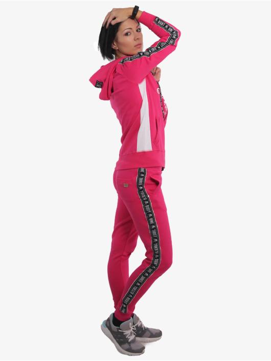 Yakuza Zip Hoodie Track Tape pink
