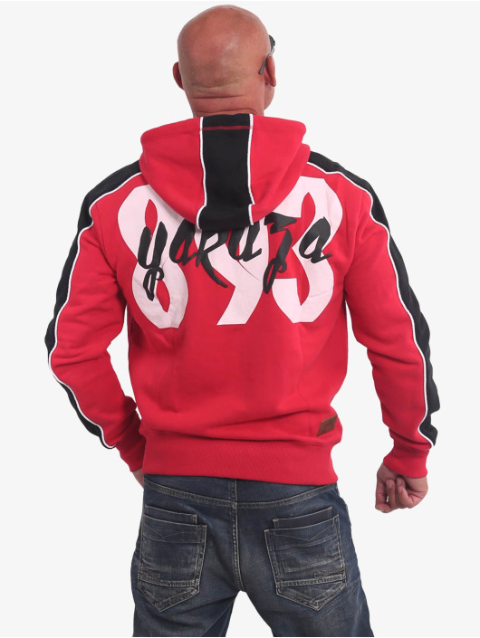 Yakuza Zip Hoodie Vintage Two Face rød