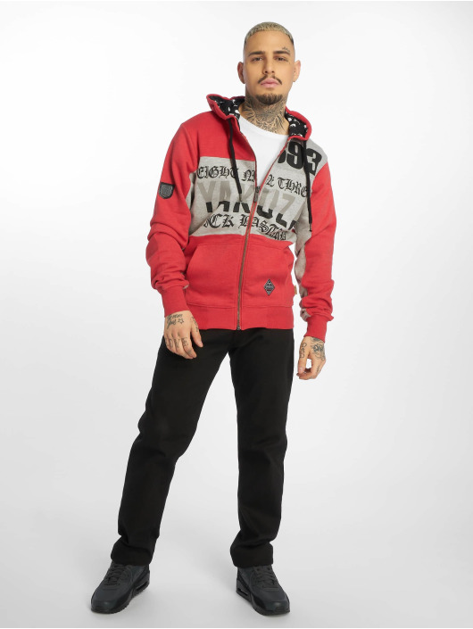 Yakuza Zip Hoodie Bastard Two Face red