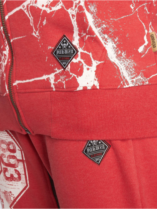 Yakuza Zip Hoodie Marble red