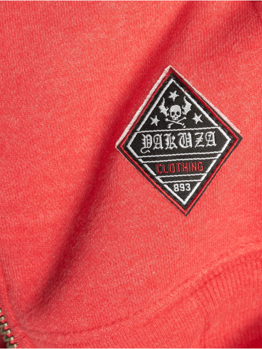 Yakuza Zip Hoodie Bastard Two Face röd