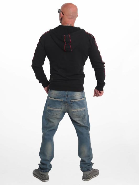 Yakuza Zip Hoodie Bad Side schwarz