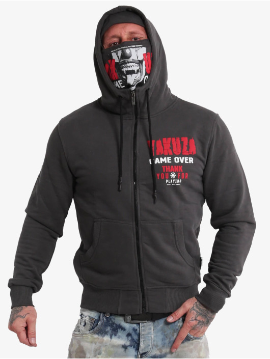 Yakuza Zip Hoodie Game Over Ninja schwarz