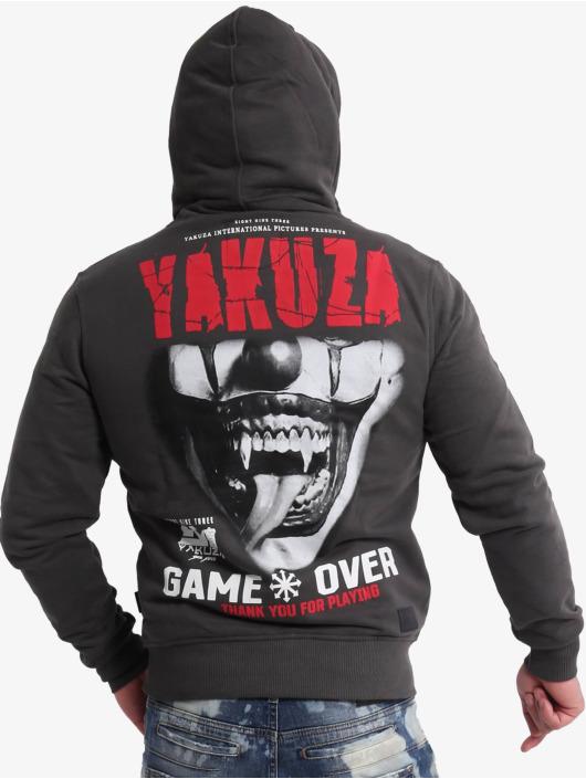 Yakuza Zip Hoodie Game Over Ninja schwarz
