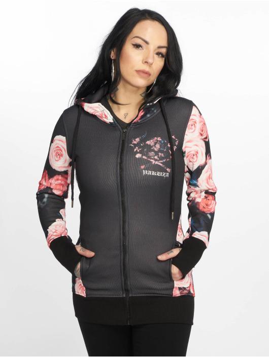 Yakuza Zip Hoodie Roses sort