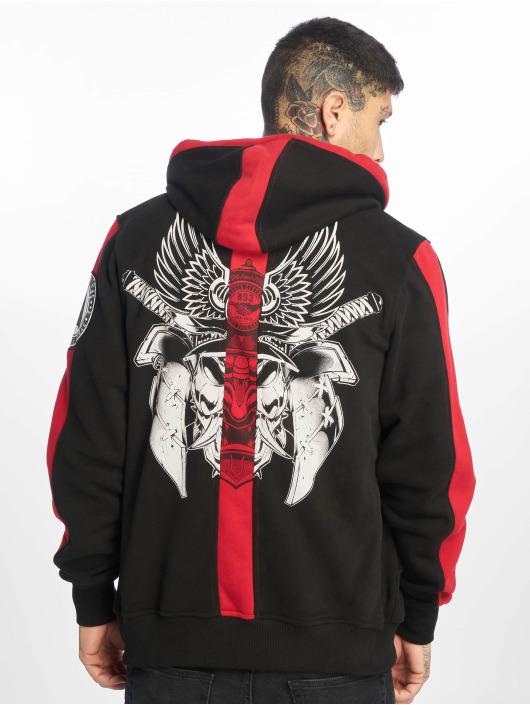 Yakuza Zip Hoodie Samurai svart