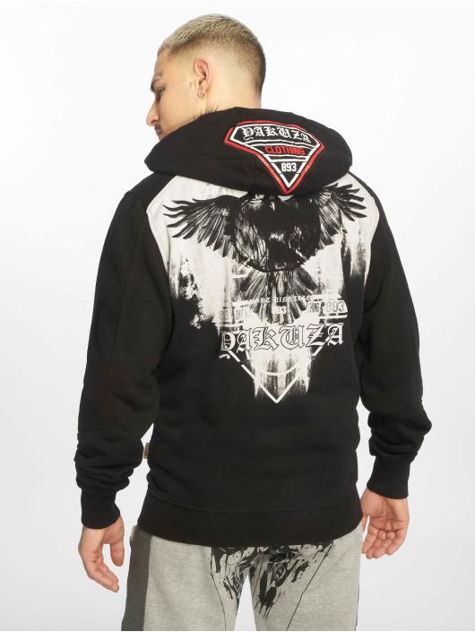 Yakuza Zip Hoodie Raven svart