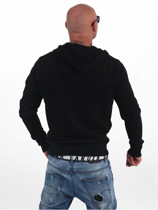 Yakuza Zip Hoodie Basic Line 4W svart