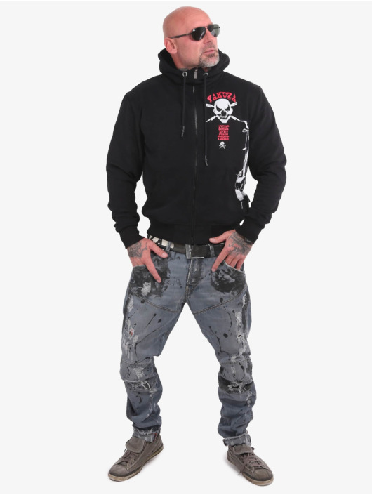Yakuza Zip Hoodie Duel The Clown Ninja svart