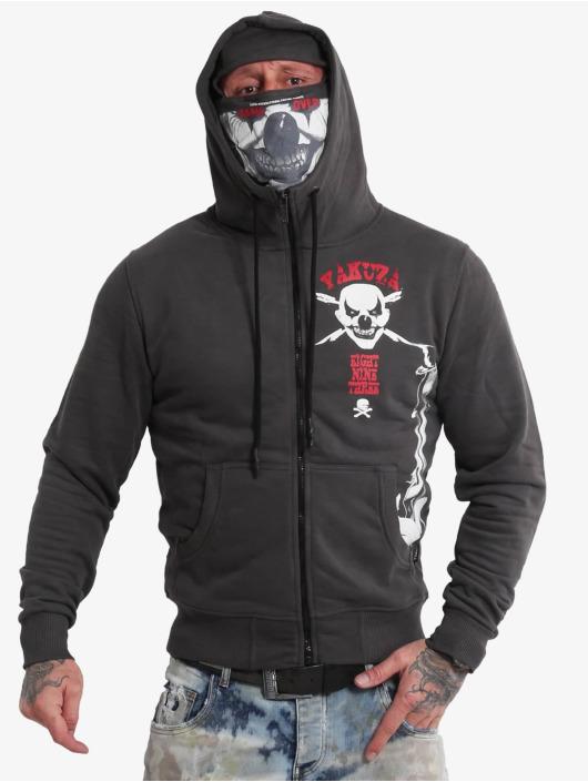 Yakuza Zip Hoodie Duel The Clown Ninja svart