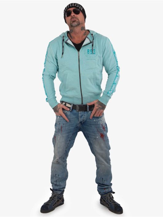 Yakuza Zip Hoodie War Is Sweet turquoise