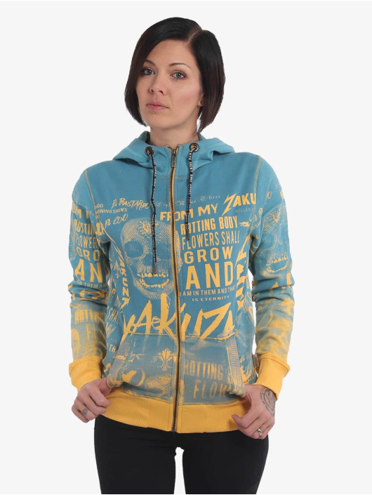 Yakuza Zip Hoodie Rotting Body Gradient yellow
