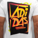 adidas T-Shirts 80s Show Graphic beyaz 3