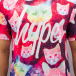 HYPE T-paidat Cosmo Cat kirjava 3