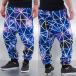 Just Rhyse joggingbroek Galaxy Stripes paars 0