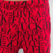 Pelle Pelle Sweat Pant We Don't Give A * red 4